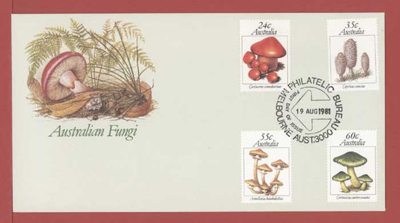 Australia 1981 Australian Fungi set on First Day Cover