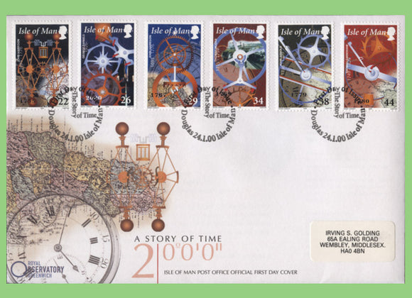 Isle of Man 2000 The Story of Time set on First Day Cover