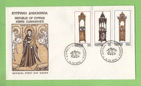 Cyprus 1978 Christmas set on First Day Cover