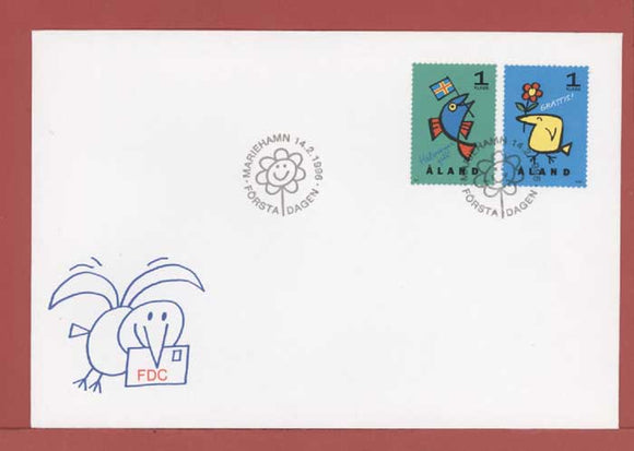 Aland 1996 Greetings set on First Day Cover