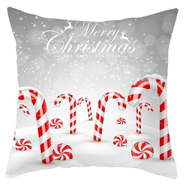 Christmas Red & White Cushion Cover - EasyChic Home