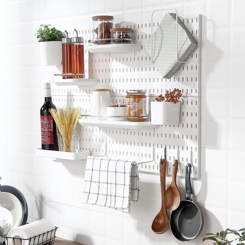 DIY Modular Pegboard Wall Storage Set - EasyChic Home