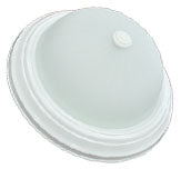 14-inch LED Melon Flush Mount (White Pan)