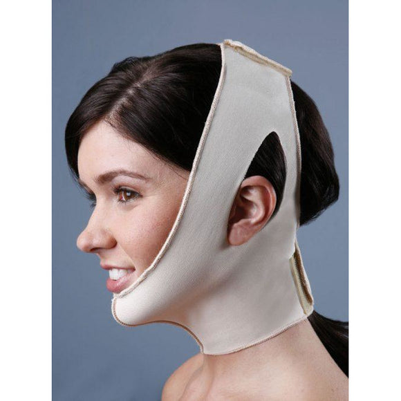 High Compression Two Strap Neck & Facial Support with Ear Openings