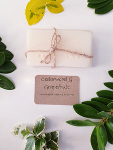 Cedarwood & Grapefruit Natural & Handmade Soap Bar