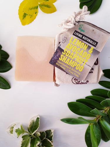 Vegan Lemon and Avocado Shampoo Bar