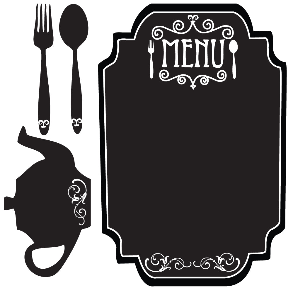 Kitchen Wall Decal, Chalkboard Menu Decal