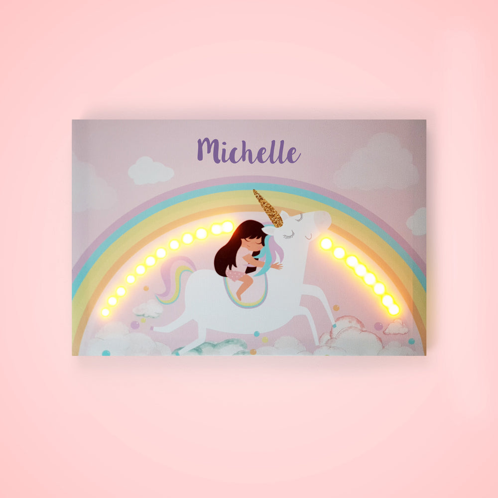 Unicorn Gifts, Personalised Unicorn Night Light Gift from Ellybean Designs