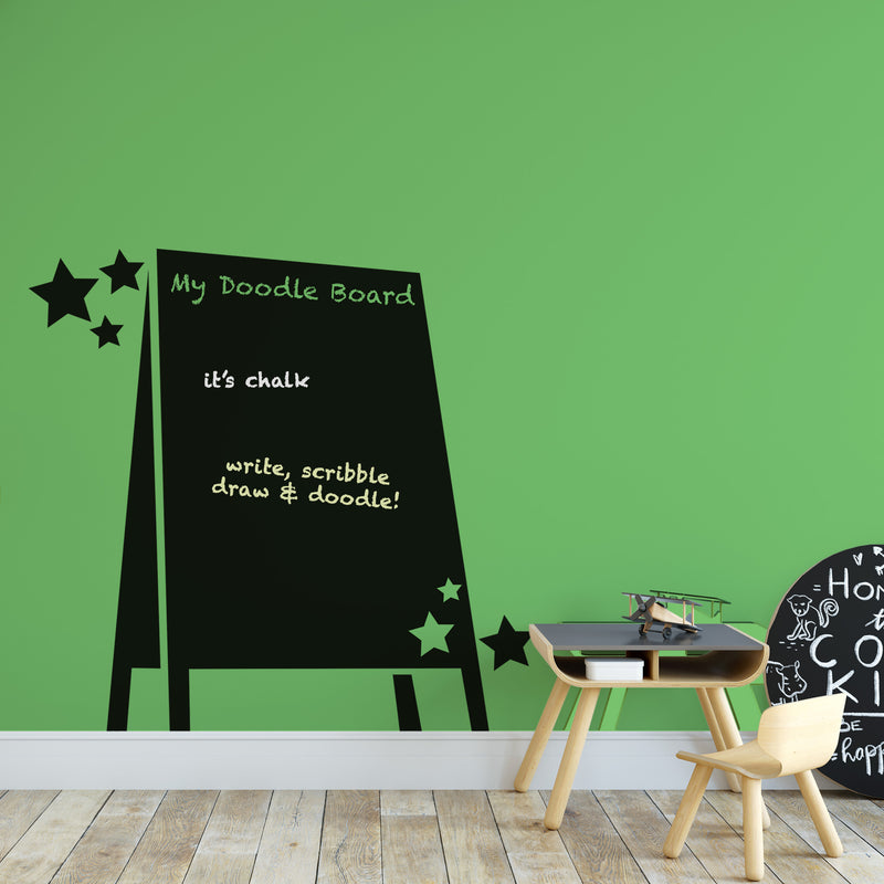 Vinyl Wall Decals, Ellybean Designs, Doodleboard Wall Decal