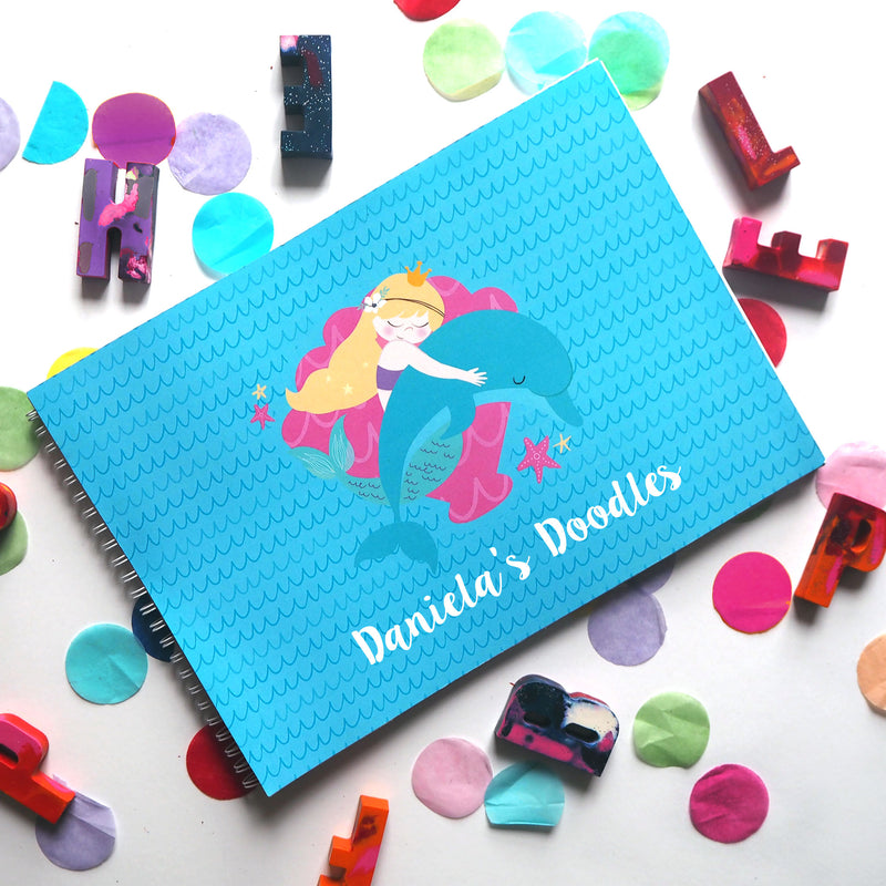 Mermaid Tales & Glitter Waves: Doodle Book - Ellybean Designs