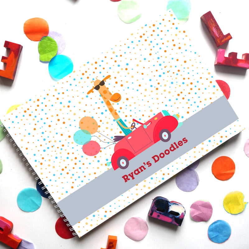 Best Gifts for Kids I Personalised Transport Themed Drawing Book