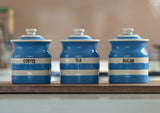 Cornishware Storage Jar Tea - Blue