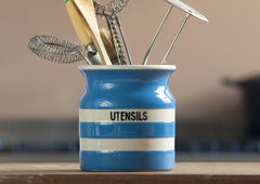 Cornishware Utensil Jar - Blue