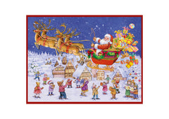 Christmas Advent Calendar - Santa In Sleigh