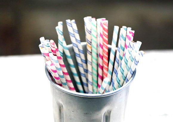 Vintage 1950's Waxed Paper Straws