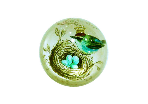 Bird Glass Paperweight - Small