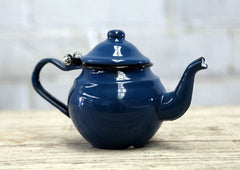 Enamel Tea Pot - Small Blue