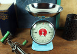 Sax Blue Retro Kitchen Scales