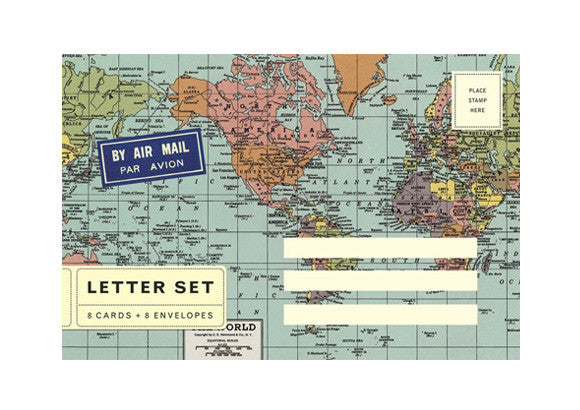 Cavallini and Co Letter Set - World Map
