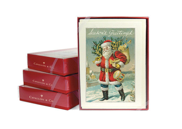 Cavallini & Co. Santa Christmas Cards - Set of 10