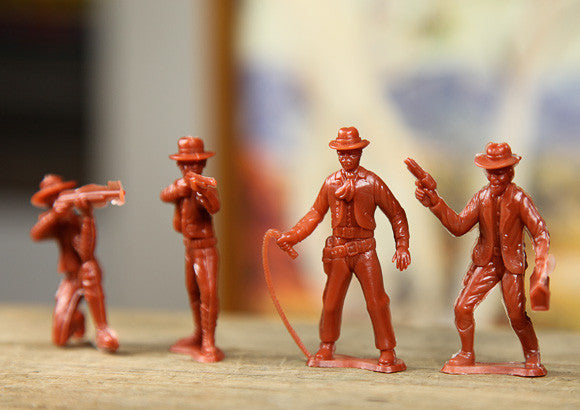 Vintage Plastic Cowboys Set
