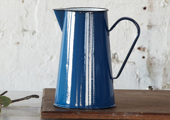 4lt Enamel Jug Pitcher Blue Vintage And Nostalgia Co