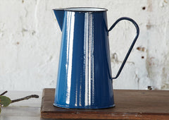 4Lt Enamel Jug / Pitcher - Blue