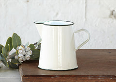 1Lt Enamel Jug / Pitcher - Cream