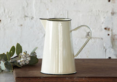 2Ltr Enamel Jug / Pitcher - Cream