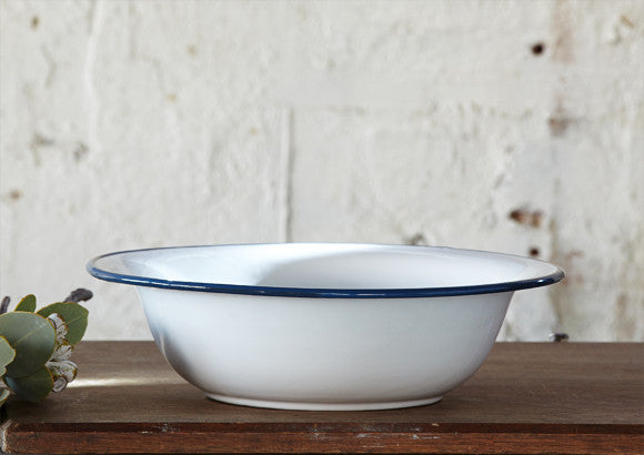 White Enamel Bowl - Large