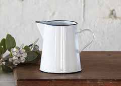 1Lt Enamel Jug / Pitcher - White