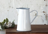2Ltr Enamel Jug / Pitcher - White