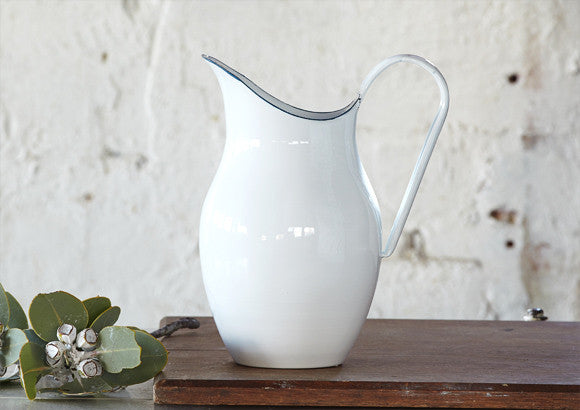 French Style Enamel Water Pitcher Vintage And Nostalgia Co