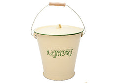 Enamel Laundry Soaking Bucket - Cream