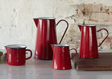 4Lt Enamel Jug Pitcher - Red