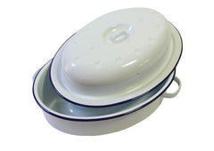 Falcon Enamel Oval Roaster Pan with lid
