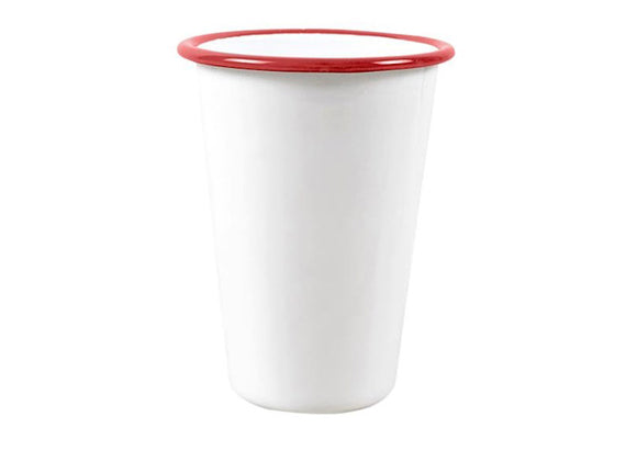Falcon Enamel Tall Tumbler Cup - Red