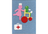 Fuzzy Felt Get Well Card - Get Well Soon