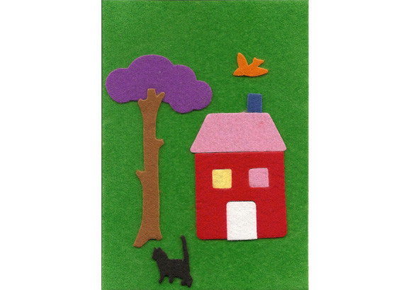 Fuzzy Felt Card - New Home
