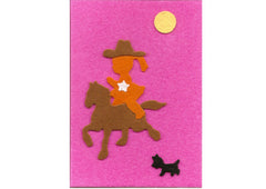 Fuzzy Felt Card - Rodeo Girl