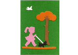 Fuzzy Felt Card - Walk The Dog
