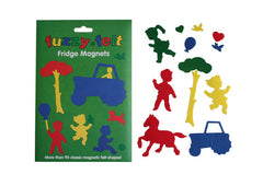 Fuzzy Felt Fridge Magnets