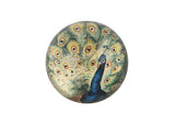 Peacock Glass Paperweight - Small