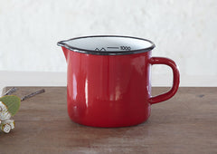 Red Enamel Measuring Cup