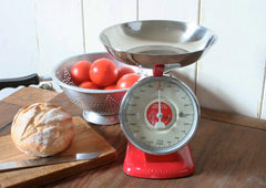Red Retro Kitchen Scales