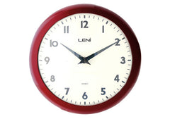 School Wall Clock - Red