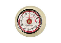 Retro Magnetic Kitchen Timer - Ivory