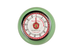 Retro Magnetic Kitchen Timer - Mint Green