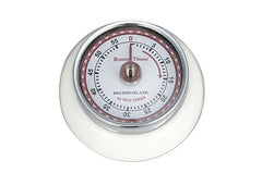 Retro Magnetic Kitchen Timer - White