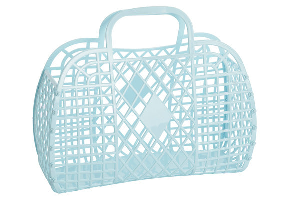 Sun Jellies Retro Basket Bag - Large Blue